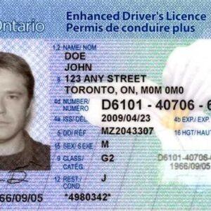 Canada driver's license