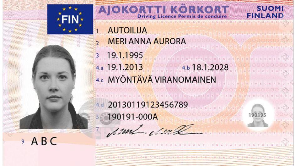 Finland driver's license