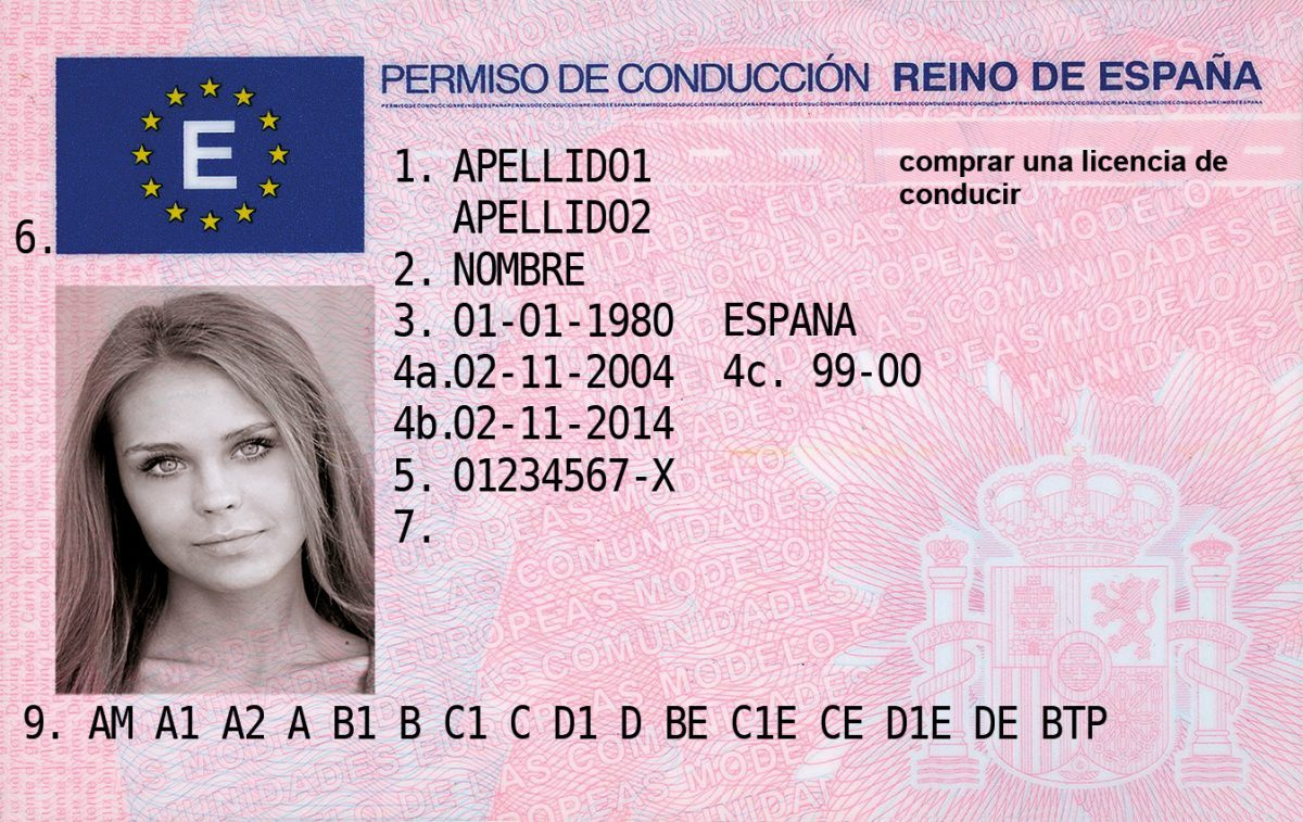 Spain driver's licence