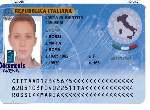Italy ID card